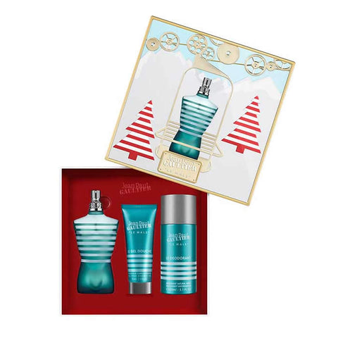 Le Male zestaw woda toaletowa spray 125ml + żel pod prysznic 75ml + dezodorant spray 150ml