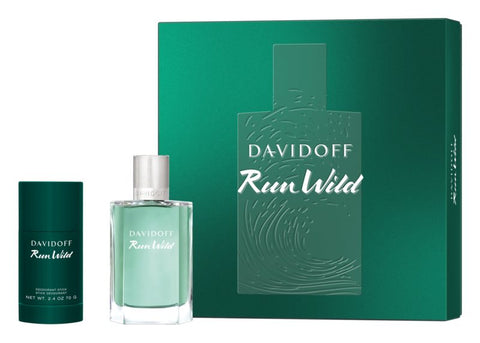 Davidoff Run Wild For Men zestaw woda toaletowa spray 100ml + dezodorant sztyft 75ml