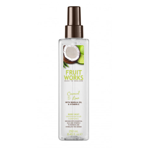 Fruit Works Body Mist mgiełka do ciała Coconut & Lime 250ml