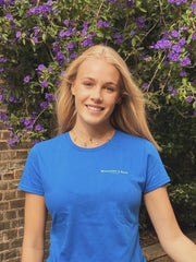 The Salcombe Sailing Ladies T-Shirt - Royal Blue - Beaumont & Bear