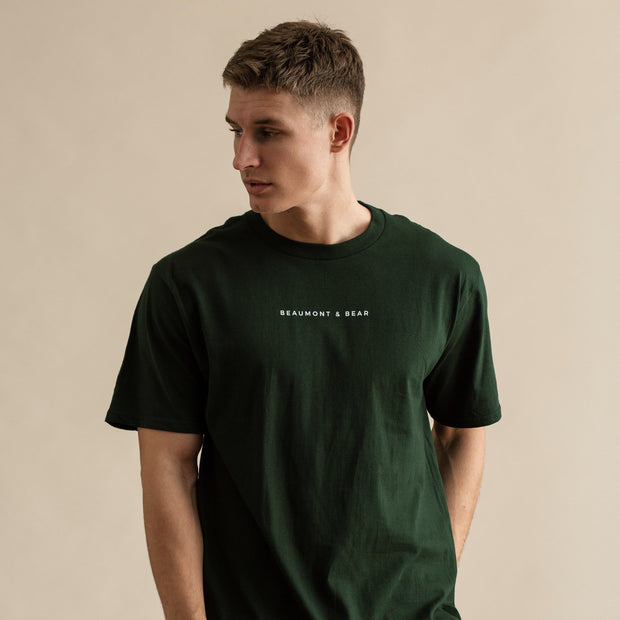 The Dartmouth Mens T-Shirt - Green - Beaumont & Bear