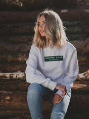 The Bantham Unisex Sweatshirt - White - Beaumont & Bear
