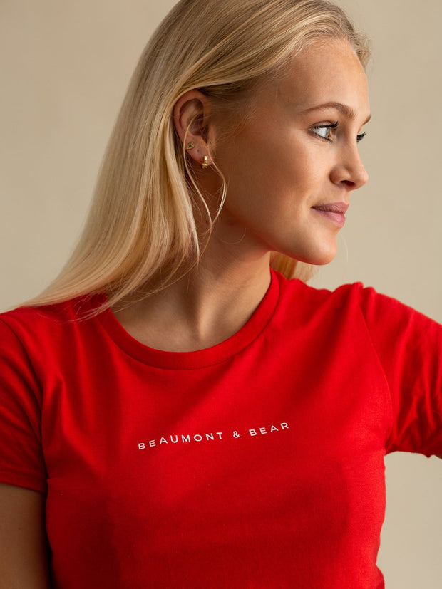 The Dartmouth Ladies T-Shirt - Red - Beaumont & Bear