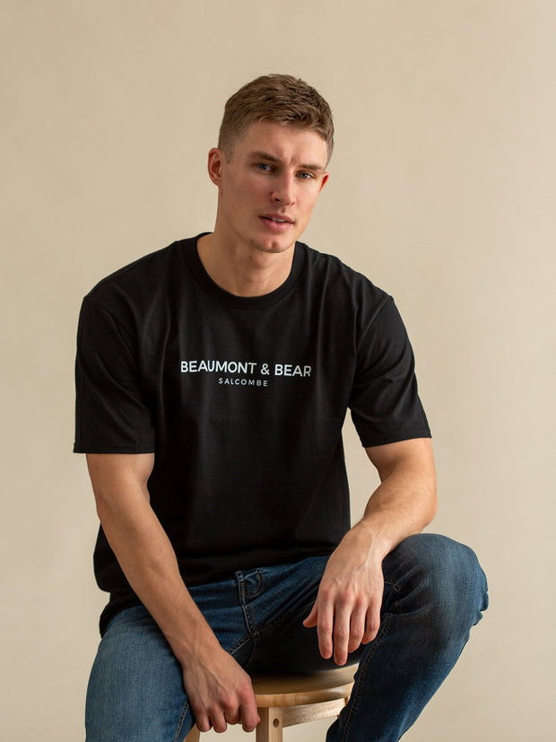Devon Road Mens T-Shirt - Black - Beaumont & Bear
