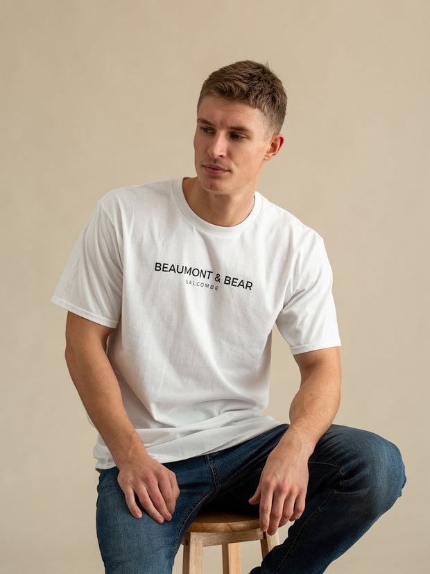 Devon Road Mens T-Shirt - White - Beaumont & Bear