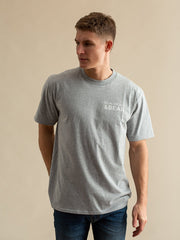 Hope Cove Mens T-Shirt - Grey