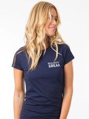 Hope Cove Ladies T-Shirt - Navy