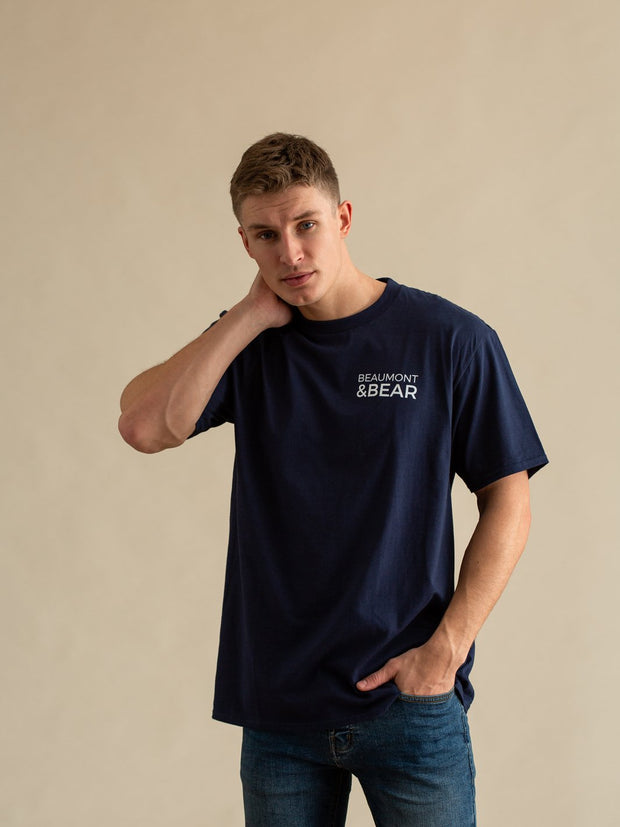 Hope Cove Mens T-Shirt - Navy - Beaumont & Bear