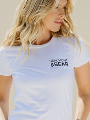 Hope Cove Ladies T-Shirt - White - Beaumont & Bear