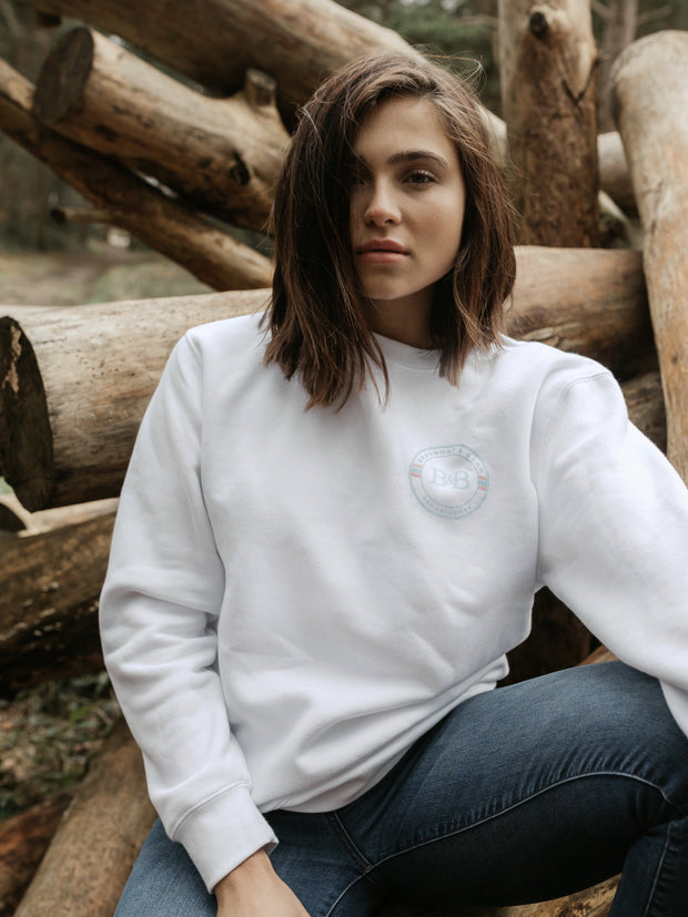 Sunny Cove Unisex Sweatshirt - White - Beaumont & Bear