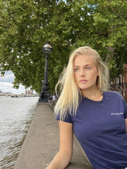 The Salcombe Sailing Ladies T-Shirt - Navy - Beaumont & Bear