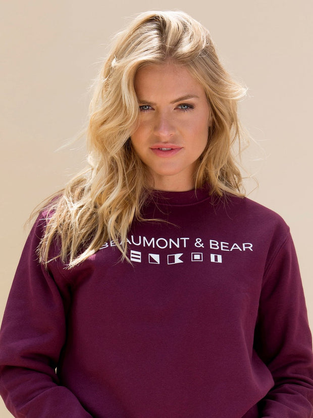 Mill Bay Unisex Sweatshirt - Burgundy