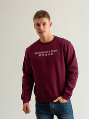 Mill Bay Unisex Sweatshirt - Burgundy - Beaumont & Bear