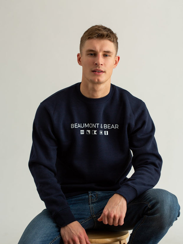 Mill Bay Unisex Sweatshirt - Navy - Beaumont & Bear