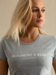 Salcombe Harbour Ladies T-Shirt - Grey - Beaumont & Bear