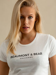 Salcombe Harbour Ladies T-Shirt - White - Beaumont & Bear