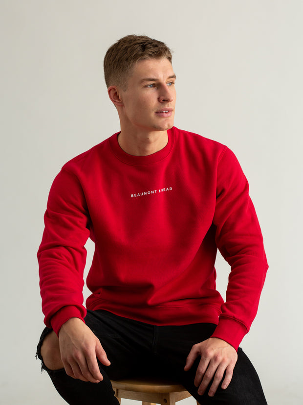 Woodleigh Unisex Sweatshirt - Red - Beaumont & Bear