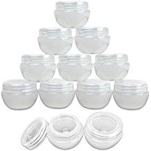 12pcs 30g white frosted container