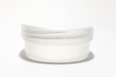 Natural 3 oz Plastic Jar Natural Lid 6 pk with Mini Jar