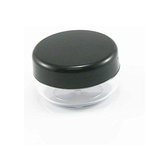 50Pcs 10Gram Empty Clear Plastic Cosmetic Containers Sample Packing Bottles,Portable Travel Bottle Pot Jars for Cream ,Lotion ,Eye Shadow +25Pcs...
