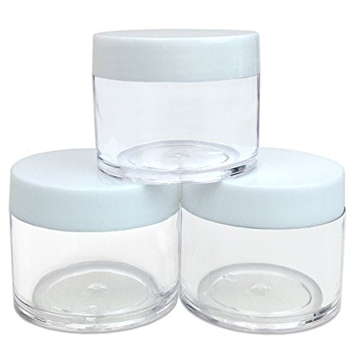 High Quality 30G/30ML (1 Oz) Round Clear Jars with White Lids for Cosmetics, Medication, Lab and Field Research Samples