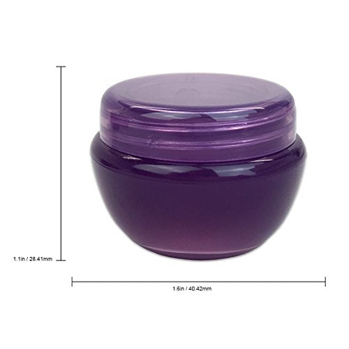 12pcs 50ml Frosted Container Jars with Inner Liner