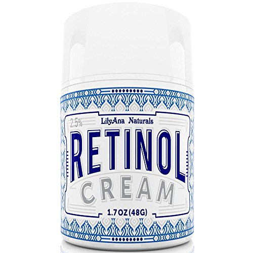 Retinol Cream Moisturizer for Face and Eyes, Use Day and Night - for Anti Aging, Acne, Wrinkles