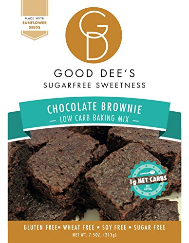 original Good Dee's Low Carb, Sugar Free, Gluten Free Brownie Mix 7.5 oz.