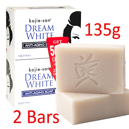 KOJIE SAN SOAP, ALL VARIANTS, FREE SHIPPING (DREAM WHITE WHITENING SOAP 2X135GRAMS)