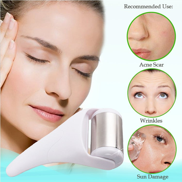 Cool Derma Roller Massager for Face and Body Massage, Facial Skin Care Preventing Wrinkles.