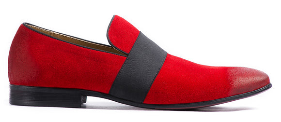 RED SUEDE SLIP ON