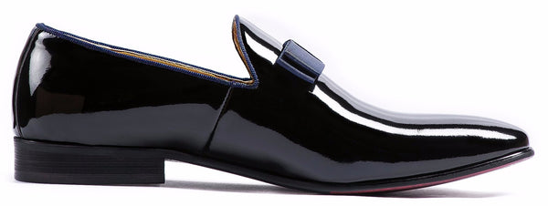 BLACK WET LOOK SLIP ON