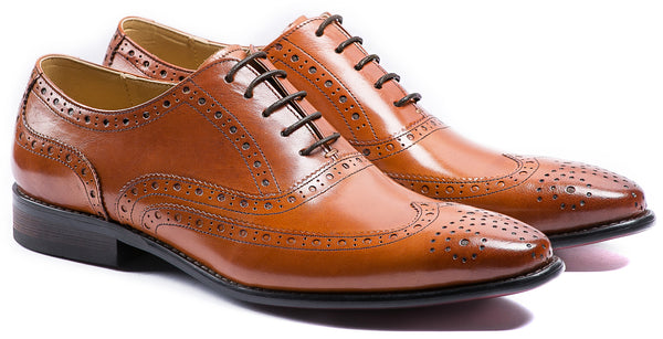 BROWN BROGUE LACE UP