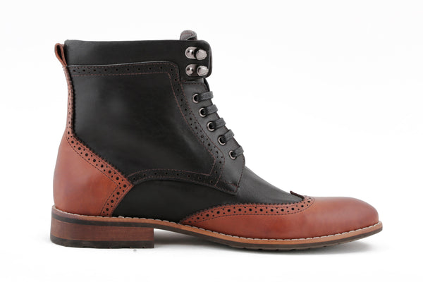 BLACK AND BROWN BOOT