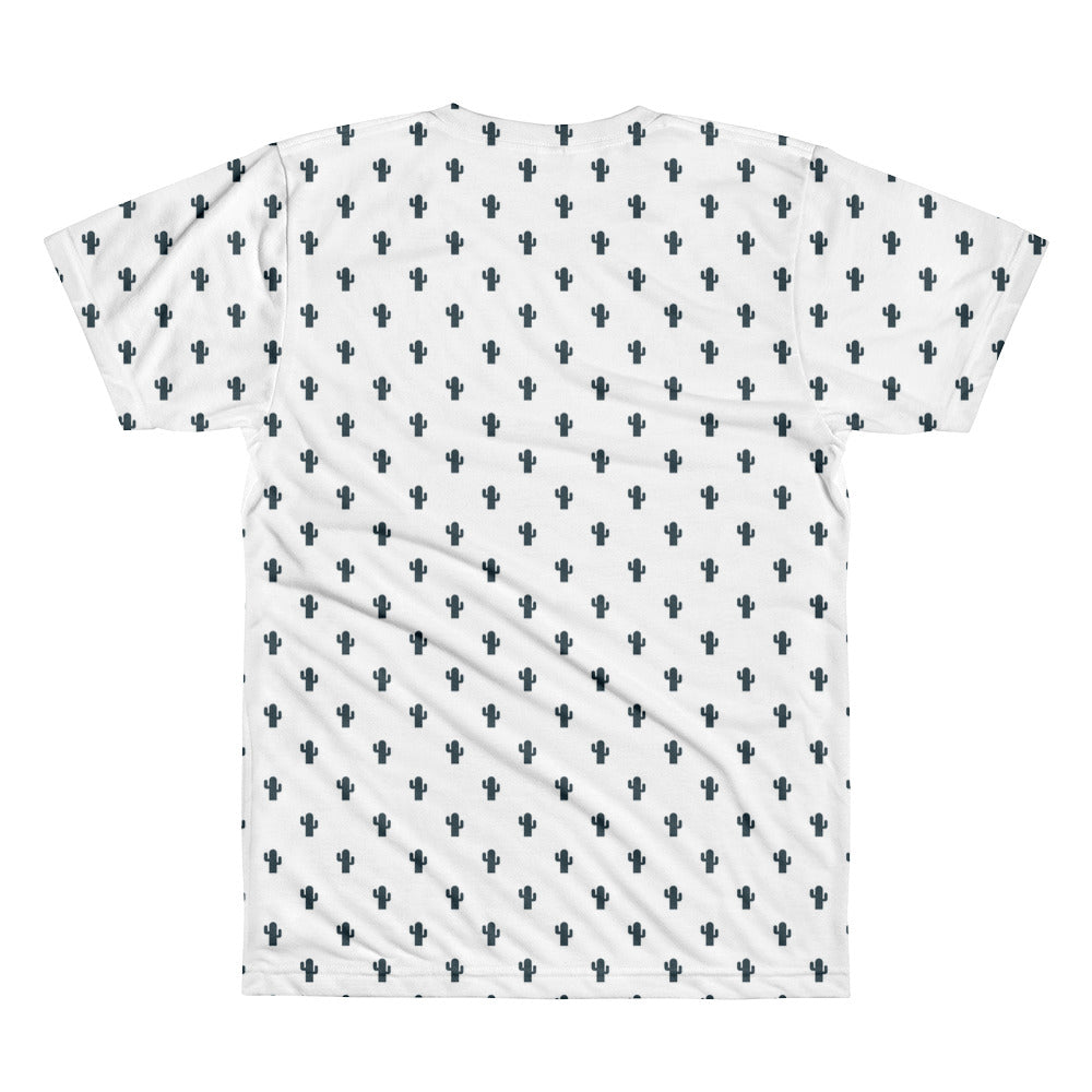 The Dudesons White Cactus All Over Printed T Shirt