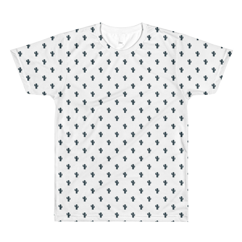 The Dudesons White Cactus All-Over Printed T-Shirt