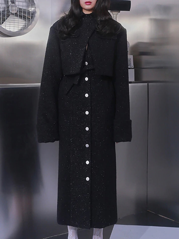 XYI Tweed Long Coat