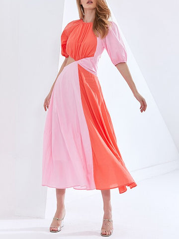 HAZZEL Hollow Out Midi Dress