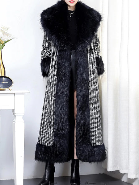 LEELLE Faux Fur Coat