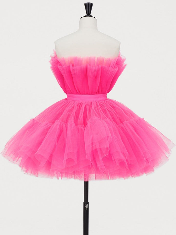 NEBBIOLO Flared Tulle Dress