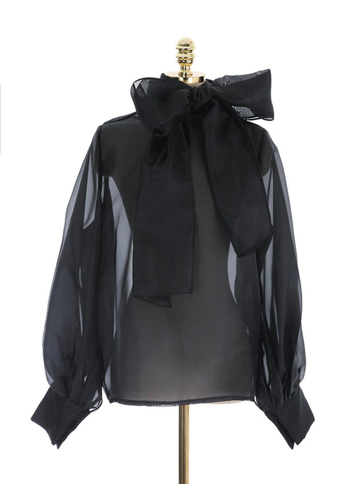 SABRINA Perspective Blouse in Black