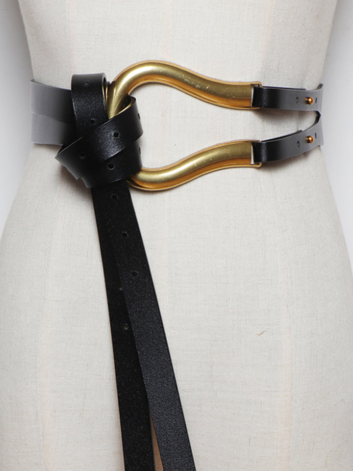 U Leather Belt