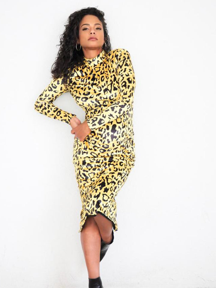 NOCHELLA Leopard Midi Dress
