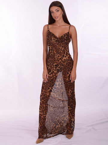 CATALINA Leopard Dress