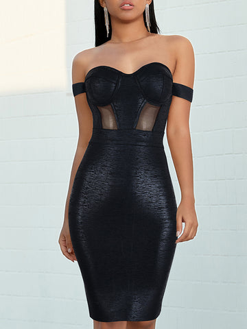 NEGRA Mesh & Bandage Dress