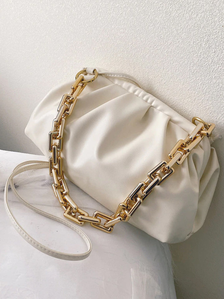 Gold Chain PU Leather  Bag