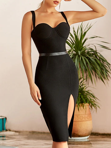 KEKE Slit Midi Dress