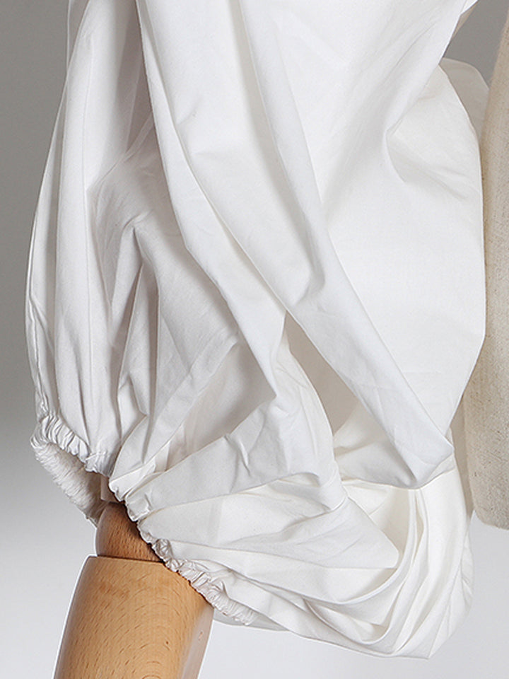 Ruched Ruffles Blouse