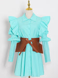 GIA Mini Dress w Leather Belt