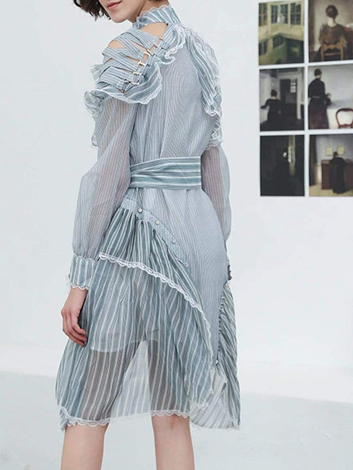 ADÉLAIDE Striped Dress